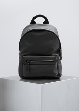 Lanvin Black Calfskin Zip Backpack