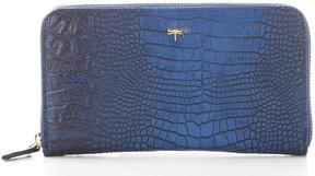Kate Landry Crocodile-Embossed RFID Checkbook Wallet