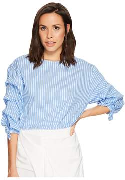 Bishop + Young Ruched Sleeve Top Women's Clothing