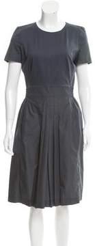 Akris Pleat-Accented Midi Dress