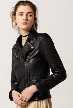 Azalea Genuine Leather Moto Jacket