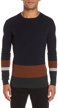 BOSS Men's Colorblock Crewneck Sweater