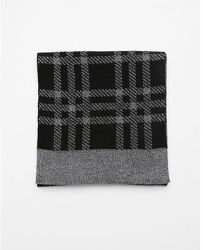 Express plaid merino wool blend scarf