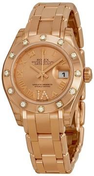 Rolex Masterpiece Oyster Datejust Pearlmaster Ladies Watch