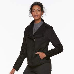 Chaps Women's Faux-Suede Jacket