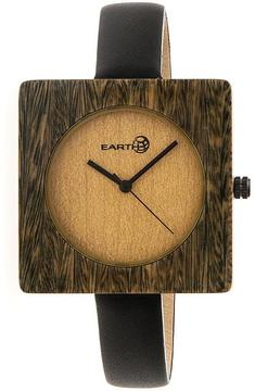 Earth Teton Collection ETHEW3904 Unisex Wood Watch with Leather Strap