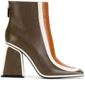 Marni colour blocked booties