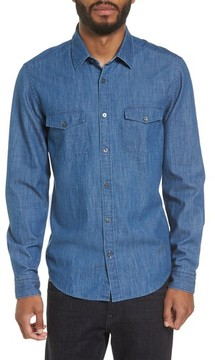 BOSS Men's Lance Regular Fit Two-Pocket Denim Sport Shirt
