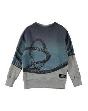 Molo Marty Rollercoaster Placed Sweatshirt, Gray, Size 4-12