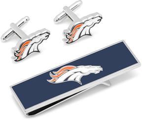 Ice Denver Broncos Cufflinks and Money Clip Gift Set