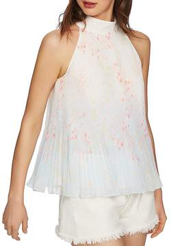 1 STATE 1.STATE Halter-Neck Pleated Tank