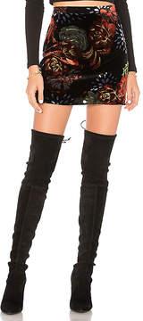 Band of Gypsies Romantic Burnout Mini Skirt
