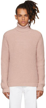 MSGM Pink Thick Knit Turtleneck