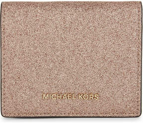 MICHAEL Michael Kors Money Pieces metallic leather wallet - ROSE GOLD - STYLE