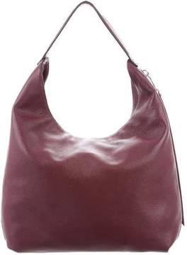 Rebecca Minkoff Grained Leather Hobo - BURGUNDY - STYLE