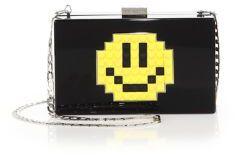 Les Petits Joueurs Grace Smile Acrylic Crossbody Bag