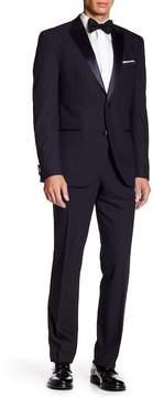 Kenneth Cole Reaction Slate Blue Two Button Peak Lapel Suit