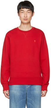 Ami Alexandre Mattiussi Red Crewneck Sweatshirt
