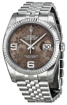 Rolex Oyster Perpetual 36 mm Bronze Dial Stainless Steel Jubilee Bracelet Automatic Ladies Watch