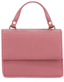 Neiman Marcus Mini Double-Sided Faux-Saffiano Lady Bag