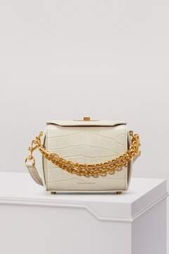 Alexander McQueen Croc-Effect Calf Leather Mini Box Bag