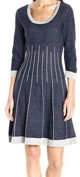 Nine West Women's 3/4 Sleeve Fit & Flare Sweater Dress