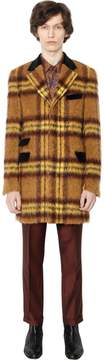 Blend of America Checked Mohair & Alpaca Coat