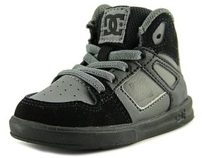 DC Rebound Ul Round Toe Leather Skate Shoe.