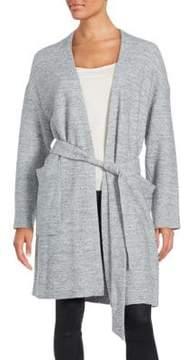 SET Belted Waist Long Sleeve Sweater