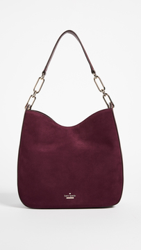 Kate Spade Robson Lane Suede Sana Shoulder Bag - DEEP WINE - STYLE