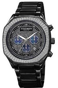 Akribos XXIV Black Dial Chronograph Men's Watch