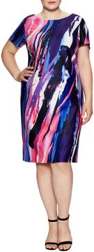 Donna Ricco Women's Short Sleeve Shift Dress