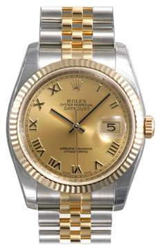 Rolex Oyster Perpetual Datejust 36 Copper Dial Stainless Steel and 18K Yellow Gold Jubilee Bracelet Automatic Men's Watch 116233CORJ