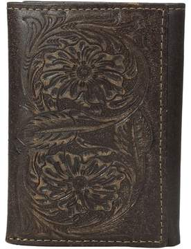 Ariat Floral Embossed Tri-Fold Wallet Wallet Handbags