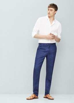 Mango Outlet Slim-fit linen suit trousers