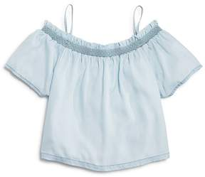 DL1961 Girls' Chambray Off-the-Shoulder Top - Little Kid