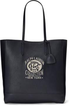 Ralph Lauren Embroidered Calfskin Tote Bag