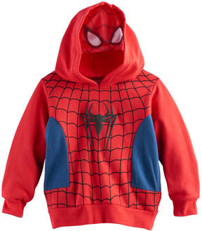Marvel Toddler Boy Spider-Man Mesh Face Hoodie