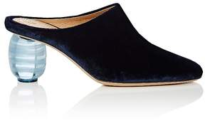 The Row Women's Acrylic-Glass-Heel Velvet Mules