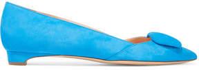 Rupert Sanderson Aga Suede Point-toe Flats - Bright blue