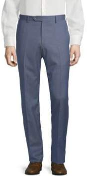 Lubiam Checkered Wool Trousers