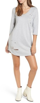 Everly Women's Distressed Sweatshirt Dress