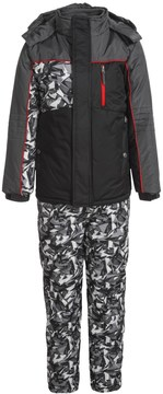 iXtreme Outfitters Printed Camo Snow Bibs and Jacket Set - Insulated (For Big Boys)