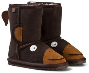 Emu Brown Monkey Boots with Merino Lining