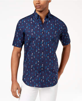 Club Room Men's Palm-Print Shirt, Created for Macy's