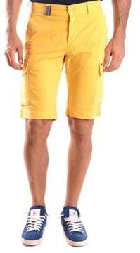 Mason Men's Yellow Cotton Shorts.