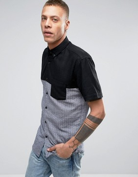 Lindbergh Short Sleeve Block Print Shirt