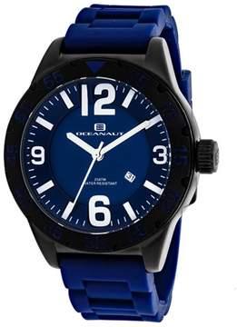 Oceanaut Aqua One OC2715 Men's Round Blue Silicone Watch