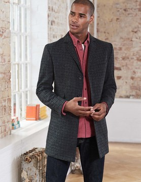 Boden British Tweed Overcoat