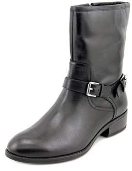 Lauren Ralph Lauren Mesi Women Round Toe Leather Black Mid Calf Boot.